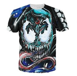 New Fashion Clothing Cartoon Venom Face Casual T-Shirt Women Men 3D T-shirt Harajuku T Shirt Summer Style Tops XTXS052