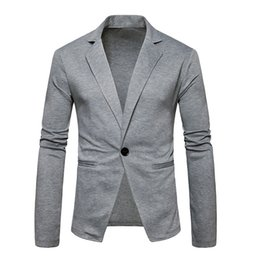 Mens Single Buckle Suit Coat For Grey New Four Seasons Casual Mens Jacket For Long Sleeve Cardigan Drop Shopping