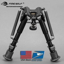 """2018 New 6""""-9"""" Style Tactical Bipod 5 Levels Adjustable Spring Loaded Legs for hunting"""