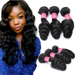 Virgin Peruvian Loose Wave Hair Bundles Unprocessed Peruvian Virgin Loose Wavy Hair Extensions 8A Peruvian Remy Human Hair Weaves