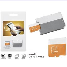 2020 Hot 100% Real orginal capacity Class 10 Orange EVO 64GB 32GB 16GB 8GB TF Memory Card C10 80mbps u1 u3 Flash SD Adapter DHL Free Ship