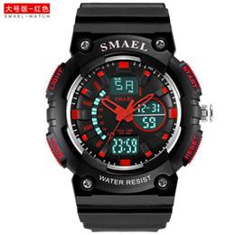 La tendencia del movimiento de los hombres Reloj de moda Los estudiantes miran el reloj electrónico Hombres Estilo militar Mesa Moda Casual SMAEL 1539C