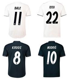 Real Madrid Soccer Jersey 18 19 BALE MODRIC ISCO ASENSIO RAMOS KROOS Football Shirts Adult Top Thai Quality Football Jerseys Sports Uniforms