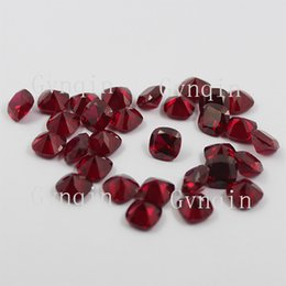100pcs lot ruby#8 square cushion cut loose gem stones
