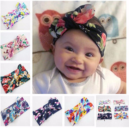 Baby Girls Headwear Head Wraps Floral Printing Turban Headband Newborn Infants Hair Accessories free shipping whoesales oem new hot sales