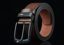 2018 New hot PU leather mens belt black pin buckle belts for men designer famous belt luxury male strap