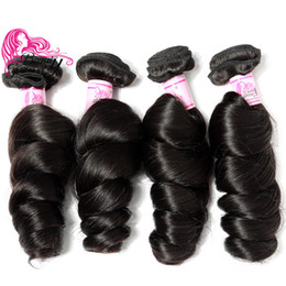 Beauty Forever Brazilian Virgin Hair Loose Wave Weave 16-26inch Unprocessed Virgin Human Hair 4 Bundles Natural Color Hair Extensions 8A