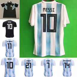 2018 world cup Argentina Soccer Jersey 2018 Argentina Home soccer Shirt #10 MESSI #9 AGUERO #11 DI MARIA football uniform size S-3XL