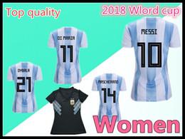 2018 Argentina away women Soccer jersey home Messi Aguero DiMaria Argentina World Cup femmes football shirts
