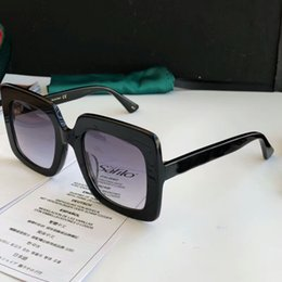 0418 Square Sunglasses with stone Logo black grey shaded Sonnenbrille 0148s brand designer sunglasses Gafas de sol New with box