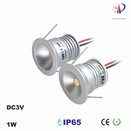 1W Mini LED Cabinet Spotlight With 3V 300mA, 25mm Cut Out, Epistar Chip Spot Lamp , 60 120 Degree Ceiling Recessed Downlight 9pcs lot