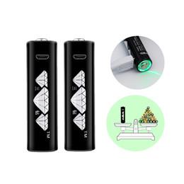 1.5 V AA batería recargable de iones de litio, USB Micro en 5 V, 1800 MWH 4pcs / caja, línea de carga gratuita