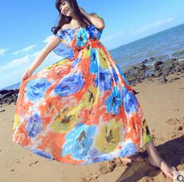XL Bohemia summer beach Skirt Dress Chiffon floral dress dress wholesale