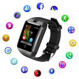 Q18 Bluetooth Smart Watch with Camera Support SIM Card & TF Card Pedometer Fitness Tracker Watch for Android & IOS With Package