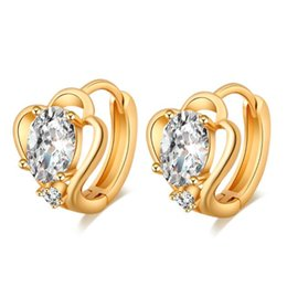 Korean High Quality Hoop Earrings Gold Plated Cubic Zirconia Earrings for Women Fashion Jewelry boucle d'oreille