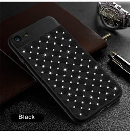 Shining Diamond Cell Phone Case for iphone Newest Knitting Weave Diamond Back Cover Shell for iphone Fitted Case