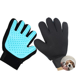 Pet Grooming Glove Brush Dog Cat Magic Touch Fur Hair Removal Mitt Massage Deshedding Comb Five Fingers Silicone Gloves