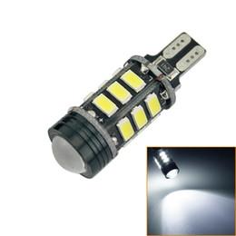 LEEWA 2pcs T15 5730SMD 15LED + 1.5W 9W Wedge Car LED Light Canbus No-Error LED Bulbs With Lens White#2256