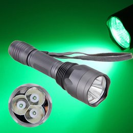 Free shipping 2018 New 15W 3 Pc XPE 1-Mode Green LED Tactical 18650 Flashlight Torch Hunting Light Lamp