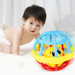 Baby Puzzle Rattles Toys Baby Large Soft Grip Ball Newborn Baby Rolling Ball Toys Soft Rubber Ball