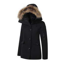 Canadian woman jacket thickening wind cold super warm down jacket jacket winter routine