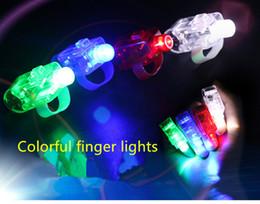 Glow finger light laser ring light colorful LED light factory direct