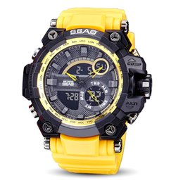 SBAO 2017 New Arrival Multi - Functional Men's Electronic Watch Outdoor Sports Waterproof LED Luminous Watches Fashion Watch