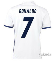 Thai Quality Customized 7 RONALDO Soccer Jerseys,discount Cheap 8 KROOS Football Jerseys,16-17 MEN 9 BENZEMA 11 BALE Football Shirts TOPS