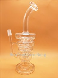 Recycler Bong Water Pipe Bong Smoking Pipe Clear Bend Type Glass Bubbler joint Dab Rig Oil Rig with Accessory
