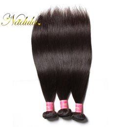 Nadula Indian Straight Hair 3Bundles 8-30 inch Remy Hair 100% Natural Human Hair Weave Wefts Double Machine Weft Wholesale Cheap