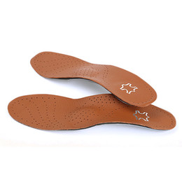 Leather Orthopedic Insoles with Massage High Arch Supports for Flat Foot Inserts Orthotic Insole Palmilha Shoes Pad Soles