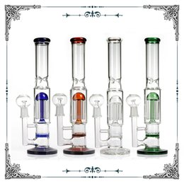 "8 tree arms Honeycomb perc Glass Bong Water pipe Oil Rig dab Glass Bubbler 13""inch somking Water pipes Bong Two Function Can For Oil Rig"