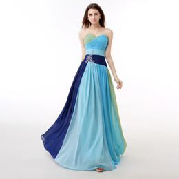 Colorful Prom Dresses Party Gown Fashionable Prom Gown gradually changing color Prom Dresses Bridesmaid Dresses 0155