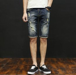 Summer choice, shorts, jeans, thin section, simple fashion, comfortable and convenient. Hole decoration, low key and restrained