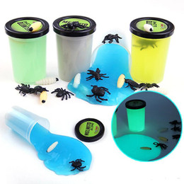Noctilucous Thinking Putty Intelligent Creative Hand Gum Luminous Elasticity Environmental Health Slime Mud Horrible Halloween spider box