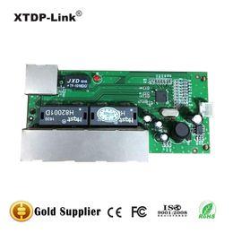 mini 5 port 10 100mbps network switch 5-12v wide input voltage smart ethernet pcb rj45 module with led built-in