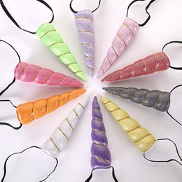 19 Colors New Arrival Unicorn Horn Headwear Kids Infant Cartoon Hair Bands Bonus DIY Hairband Headband Halloween Christmas Hair Accessories