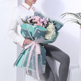 Rabbit Korean Flower Wrapping Paper Florist Bouquet Packaging Material Gift Packaging Flower Shop Supplies 20 Sheets haif