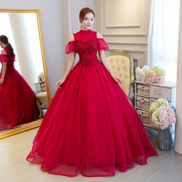 Freeship light blue red collar bubble sleeve gown princess medieval dress Renaissance Gown queen Victoria Antoinette ball gown Belle Ball