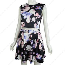 Spring 2018 new sleeveless printed sexy dress jacket skirt two-piece women's dress