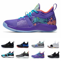 b67bf04625fb Paul George 2 PG 2 mens basketball shoes Classic Pure Platinum Hot Punch  Playstation The Bait II Mamba Mentality Blue Lagoon sports sneakers