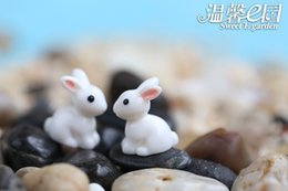 10PCS Fairy Garden Accessorie Micro Landscape Crafts Resin Rabbit Moss Gnome Miniature Creative Decoration moss terrarium decor DIY Crafts