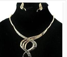 chaming purple diamond crystal birde Crystal spiral set lady's necklace earings erter