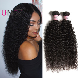 UNice Hair 8a Grade Malaysian Curly Wave Virgin Human Hair Extensions 4 Bundles Remy Curly Hair Weave Bundles Wholesale Curly Weaves