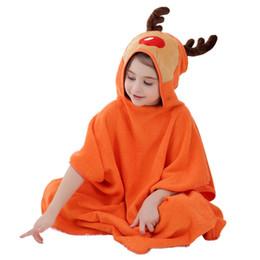 MICHLEY Children pajamas Soft Hooded baby Bathrobe Cartoon Animal Bath Towel Cotton Comfortable Baby Clothes Cape Robe