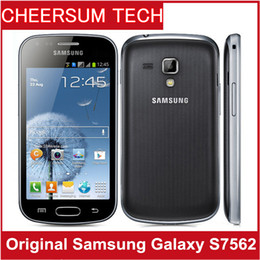 Samsung Galaxy Trend Duos S7562 Dual Sim phone unlocked 3G GSM mobile phone 4.0'' WIFI GPS 5MP 4GB smartphone 15pcs free DHL