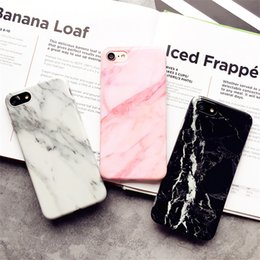 Cover for Iphone 7 Marble Pattern Silicone Phone Cases for Iphone7 Plus 8 8 Plus 6 6s Fundas Protect Cell Phone Sets Shockproof free ship
