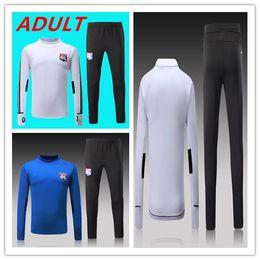 2017 2018 Olympique lyonnais Tracksuit Soccer Jogging Football Tops Coat Pants Sports Training 17 18 Lyon Suit Football Tracksuit