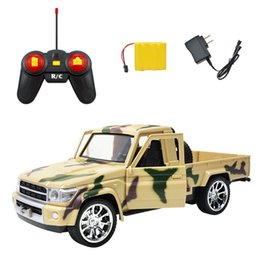 1:14 Remote control car ,a key to open the remote pickup truck military remote-control car children's toy car.