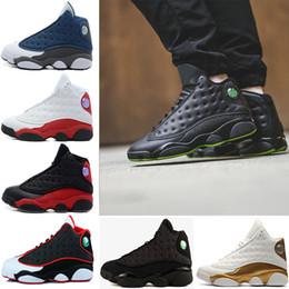 With box 13 Altitude men Basketball shoes black cat bred Respect Chicago DMP GS Bordeaux olive pure money 13s Tranier sneaker US 8-13
